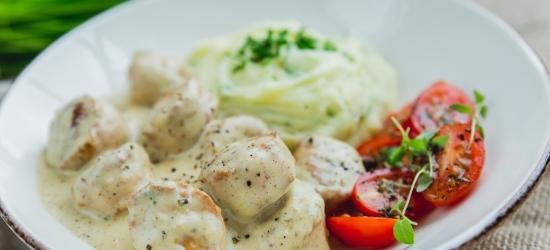 Kanalihapallid kartulipudru ja koorekastmega